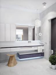 hanging modern bathroom vanity lights from white crystal