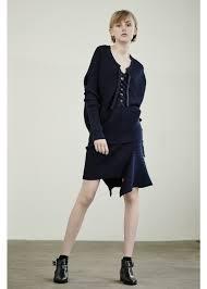 designers remix designers remix ribly drape skirt grey