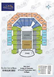 Arena Floor Plans by Bon Jovi Live In Macao Damai Cn