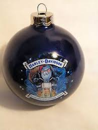harley davidson dated jingle bell tree ornament