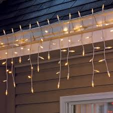 100 count white led twinkling icicle lights at home at home