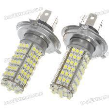 Led Auto Lights H4 5w 102 Smd Led 6500k 460 Lumen White Fog Lights For Car 12v