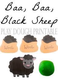 baa baa black sheep play dough mat free printable