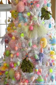 Easter Decorations For A Table by Spring Easter Table Setting U0026 An Easter Decorated Tree