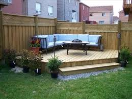 small backyard landscaping ideas with deck backyard fence ideas