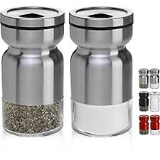 salt and pepper shakers amazon com chefvantage salt and pepper shakers set with adjustable