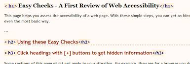 easy checks a first review of web accessibility web