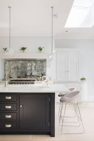best 10 luxury kitchen design ideas on pinterest dream kitchens skylight ceiling window chunky island like flint splasback idea like trhis marble colour could