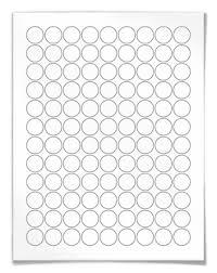 circular laser and inkjet printer labels 0 75 inch template