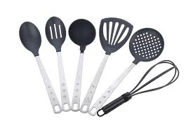 miu france 6 piece stainless steel handle kitchen tool set