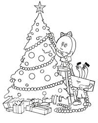 printable colouring christmas tree free coloring pages christmas