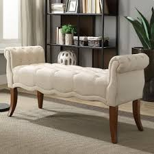 Bench With Rolled Arms Benches You U0027ll Love Wayfair