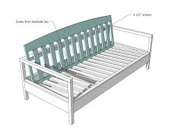 Simple Wooden Bench Design Plans by How To Build A Couch Frame With 2x4 2x4s As Shown Above In