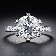 diamonds rings tiffany images Tiffany co 3 88 carat antique diamond ring jpg