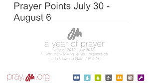 prayer points july 30 august 6 pray for fruit from the