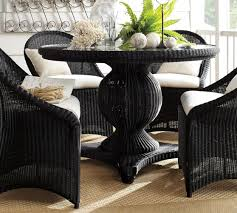 black pedestal dining table palmetto all weather wicker round pedestal dining table black