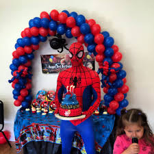 Spiderman Decoration Venue Decorating Balloons U0026 Props U2013 My Own Couture Party