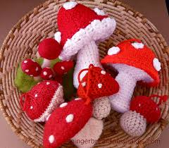 knitted crocheted felted tree ornaments