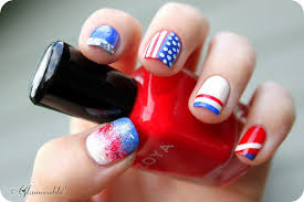 4th of july nail art to show your patriotic style