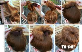 hair bun maker instructiins ideas about how to do the bun hairstyle cute hairstyles for girls