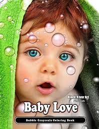 baby love bubbles coloring book black river art