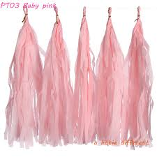 pink tissue paper 14inch 35cm 1pack 5pcs pack baby pink tissue paper tassels for