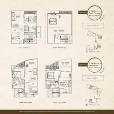 residence floor plan penthouse naung residence
