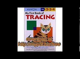 my first book of tracing kumon workbooks youtube