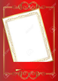 Gold Invitation Card Invitation Card On Red Background With Gold Ornaments Royalty Free