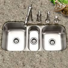 Triple Basin Kitchen Sink by Houzer Medallion Gourmet 39 81 U0027 U0027 X 17 94 20 19 U0027 U0027 Undermount