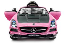 pink mercedes amg amazon com 2017 mercedes sls amg 12v power ride on toy with uv