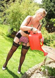Backyard Milf Milf In Garter Belts At The Backyard Older Women And