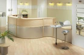 Oak Reception Desk China Modern Curved Mfc Oak Medical Reception Desk Hf R019