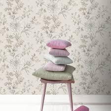 rasch wallpaper rasch behang rasch bordeaux floral wallpaper in neutral 208528