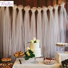 wedding backdrop tulle fengrise 100 yards tulle wedding backdrop wedding decoration 15cm