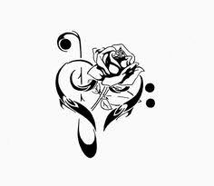 music rose tattoo liked on polyvore featuring accessories and