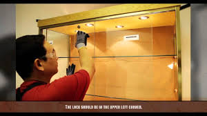 glass doors cabinets how to install sliding glass doors youtube