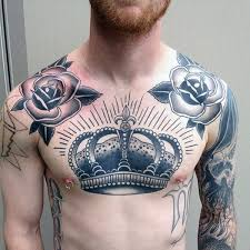 Male Flower Tattoos - 50 collar bone tattoos for men clavicle design ideas