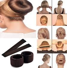cool hair donut acutas hair styling donut bun maker former foam french twist magic