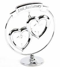 25th anniversary cake toppers crystocraft 25th anniversary cake topper and gift swarovski