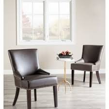 Safavieh Dining Chairs Safavieh En Vogue Dining Bowie Charcoal Grey Dining Chairs Set Of