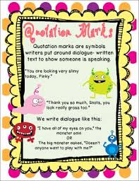 monsters 3rd grade ccss quotation marks and commas pack