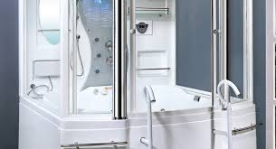 shower corner tub and shower combo alacrity small freestanding