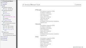 zf truck transmission service literature repair manual trucks
