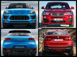 porsche macan length photo comparison porsche macan vs bmw x4
