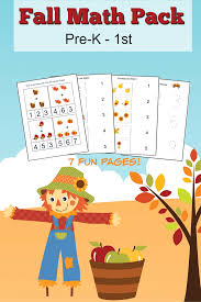 fall math worksheets for pre k to 1st grade frugal mom eh