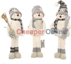 Christmas Decorations For Tall Windows by 84cm Tall Plush Standing Snowman Christmas Decoration In White