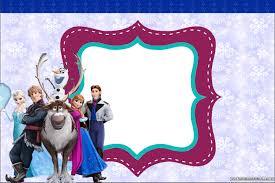 Famosos Frozen - Kit Completo com molduras para convites, rótulos para  #SZ21