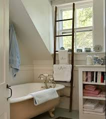 towel rack ideas for bathroom bathrooms attic bathroom with white clawfoot bathtub and ladder