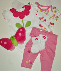 Baby Closets Gymboree 5 Pc Set White Pink Floral Preemie Shopping For Baby